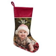 custom Christmas stockings Canada-Keyline Monogram Christmas Stocking