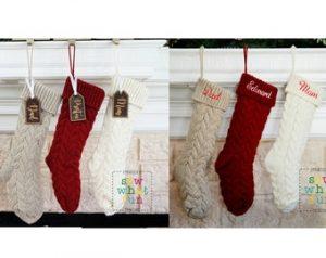 custom Christmas stockings Canada-Knit Christmas Stocking