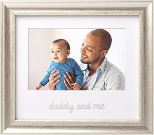 First Father's Day Gifts Canada-Lil Peach Daddy and Me Keepsake Frame, 1st Fathers Day Gift to Dad from Daughter or Son, Dad Birthday Gift Ideas, Silver