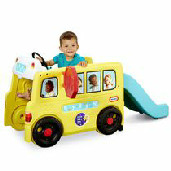 Toddler Gifts Canada-Little Tikes Little Baby Bum Wheels on the Bus Climber & Slide Ride-On Toy
