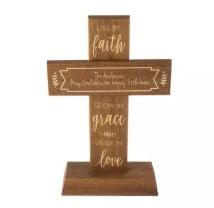 Live by Faith Tabletop Cross