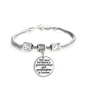 Grandma Gifts Canada-Love Between a Grandmother and Granddaughter is Forever Bracelet - Family Jewelry Gift - 10''