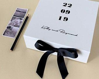 Luxury wedding keepsake box
