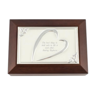 Grandma Gifts Canada-MEMORY BOX WITH HEART COVER