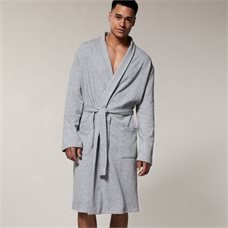 First Father's Day Gifts Canada-MEN'S ESSENTIAL ROBE HEATHER GREY LARGE-EXTRA-LARGE