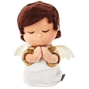 Hallmark Canada First Communion Gifts-Mary's Angels Lord's Prayer Angel Stuffed Animal With Sound, 10.75 inch