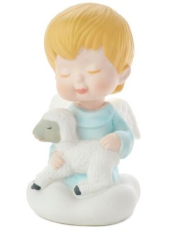 Mary's Angels Boy Angel and Lamb Porcelain Figurine