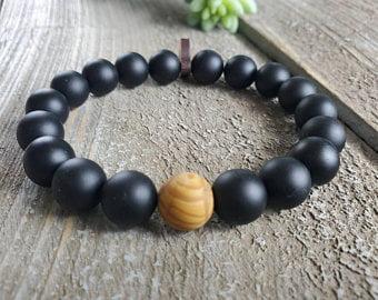 Men's Bracelet with Healing Stone