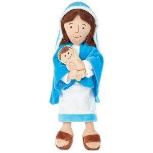 Hallmark Canada First Communion Gifts-Mother Mary Holding Baby Jesus Stuffed Doll, 12.75 inch