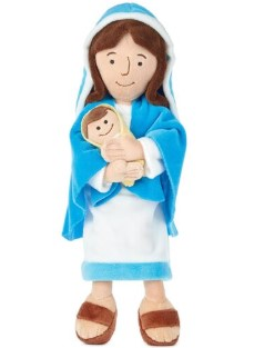 Mother Mary Holding Baby Jesus Stuffed Doll