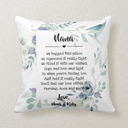 Grandma Gifts Canada-Mother's Day Grandma Grammy Nana from Grandkids Throw Pillow