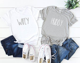 Mr and Mrs Couples T Shirts Set