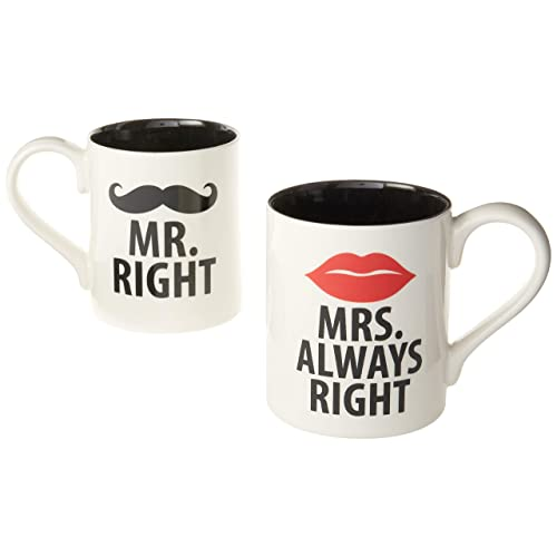 Mr. Right and Mrs. Always Right Mugs