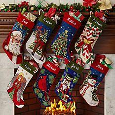custom Christmas stockings Canada-Needlepoint Personalized Stocking