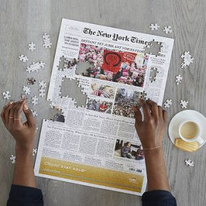 Grandma Gifts Canada-New York Times Custom Front Page Puzzle
