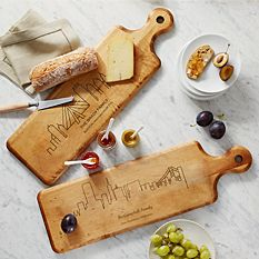 Cool Christmas Gifts Canada-Our Home Skyline Wood Serving Board