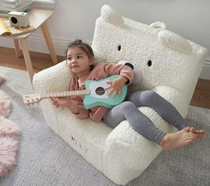 Toddler Gifts Canada-Peanut Bear Cozy Sherpa Anywhere Chair®