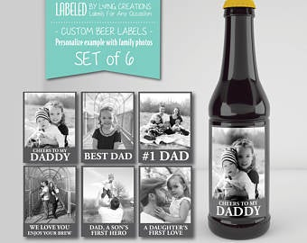 Personalized Beer Labels for Dad