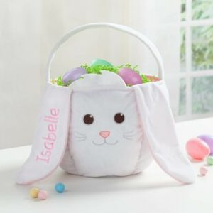 Personalized Easter Baskets Canada-Personalized Bunny Easter Fabric Basket