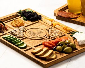 Cool Christmas Gifts Canada-Personalized Charcuterie Planks and Beer Flights