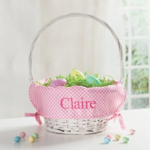 Personalized Easter Baskets Canada-Personalized Easter Wicker Basket