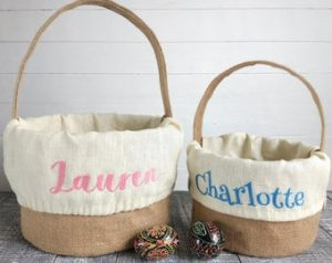 Personalized Easter Baskets Canada-Personalized Easter basket with liner