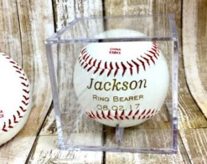Ring Bearer Gifts Canada-Personalized Laser Engraved Baseball