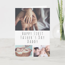 First Father's Day Gifts Canada-Personalized Photo Collage First Father's Day Card