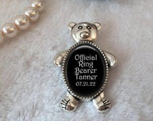 Ring Bearer Gifts Canada-Personalized Pin for Ring Bearer