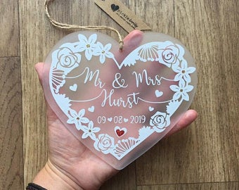 Personalized Wedding Gift – Frosted Heart