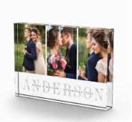 Personalized Wedding Photo Collage Block