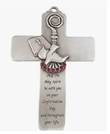 Pewter Holy Spirit Dove Wall Cross