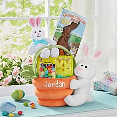 Personalized Easter Baskets Canada-Plush Bunny Basket