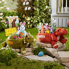 Personalized Easter Baskets Canada-Pre-historic Friends Easter Basket