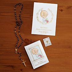 First Communion Gifts Boy Canada-Precious Moments Black First Communion Gift Set