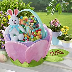 Personalized Easter Baskets Canada-Pretty Petals Easter Basket