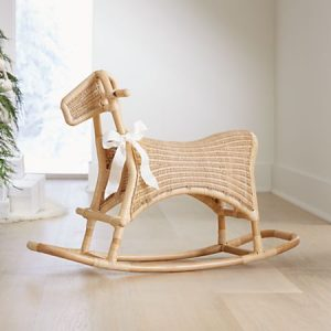 Toddler Gifts Canada-Rattan Rocking Horse