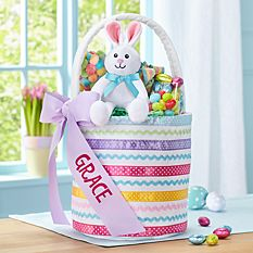 Personalized Easter Baskets Canada-Ribbons & Bows Easter Basket