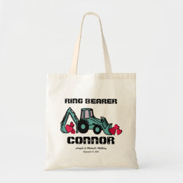 Ring Bearer Gifts Canada-Ring Bearer Back Hoe Tote Bag