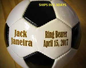 Ring Bearer Gifts Canada-Ring Bearer Gift, Personalized Soccer Ball