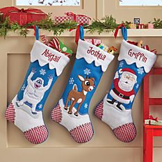custom Christmas stockings Canada-Rudolph Character Personalized Stockings
