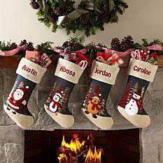 custom Christmas stockings Canada-Rustic Wilderness Stocking