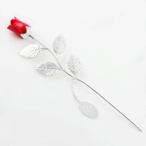 Grandma Gifts Canada-SILVER PLATED RED ROSE