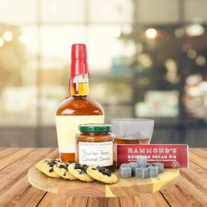 First Father's Day Gifts Canada-SWEET BOURBON GIFT BASKET