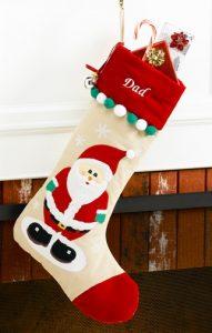 custom Christmas stockings Canada-Santa Claus Personalized Christmas Stocking