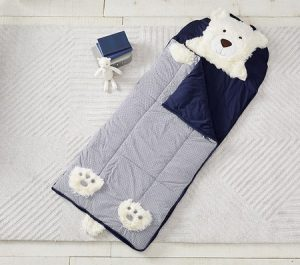 Toddler Gifts Canada-Shaggy Head Bear Sleeping Bag