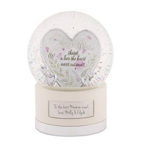 Grandma Gifts Canada-Silver Grandma Heart Snow Globe