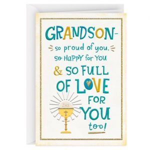 Hallmark Canada First Communion Gifts-So Full of Love for You First Communion Card for Grandson