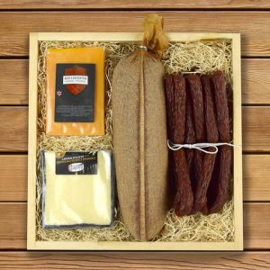 First Father's Day Gifts Canada-THE RUSTIC MEAT AND CHEESE GIFT CRATE