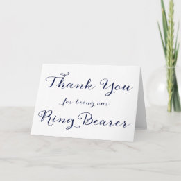 Ring Bearer Gifts Canada-Thank You For Being Our Ring Bearer Wedding Card